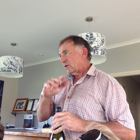 Peter the winemaker at Hedberg Hill Wines, Orange Wine Tours